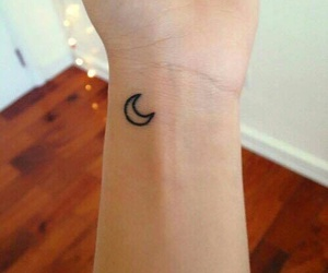 tattoo, moon, and small image