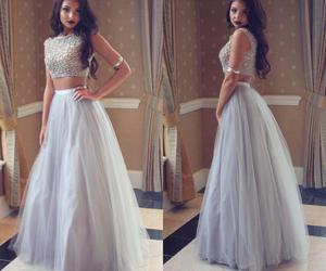long prom dresses, crystals prom dresses, and two-piece prom dresses image