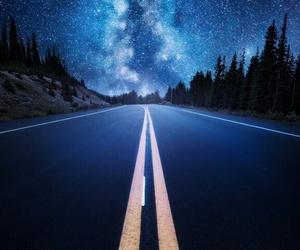 stars, landscape, and nature image
