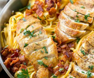 Chicken, pasta, and butternut squash image