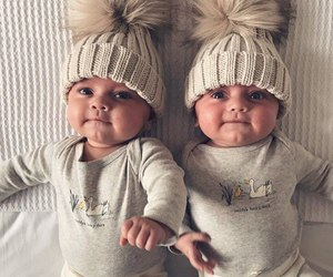 baby, twins, and child image