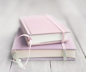 book, pink, and pastel image