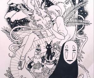 anime, art, and Hayao Miyazaki image