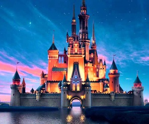 castle, disney, and disneycastle image
