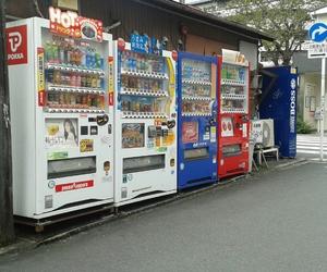 japan, tokyo, and vending machines image