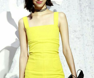 model, kiko mizuhara, and yellow image