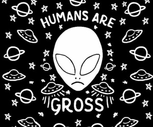 alien, black, and alternative image