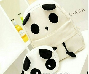 panda and backpack image