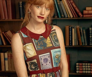 book, redhead, and books image
