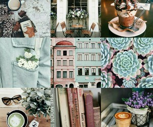 coffee, collages, and enjoy image