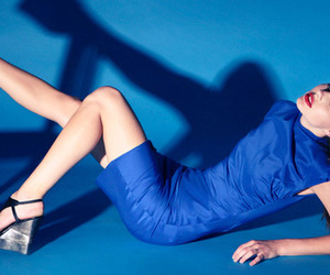 blue, fashion, and model image