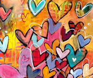 hearts, painting, and artist unknown image