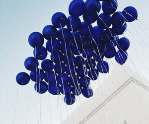 blue, balloons, and vintage image