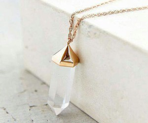 crystal, gold, and necklace image