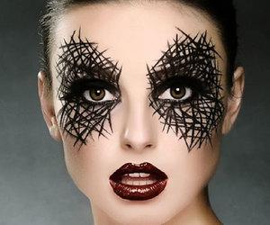 Halloween, makeup, and black image