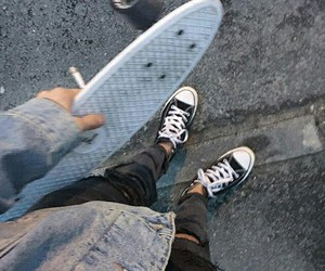 grunge, skate, and skateboard image