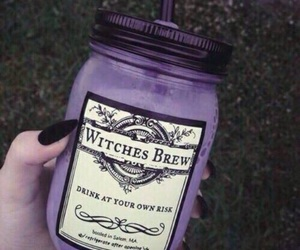witch, drink, and purple image
