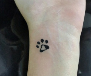 tattoo, dog, and footprint image