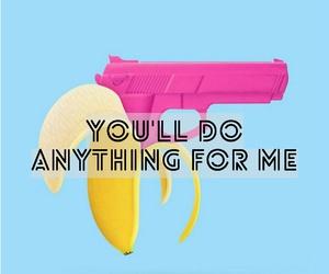 banana, girls, and gun image