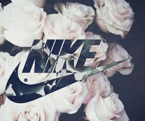 nike, flowers, and rose image