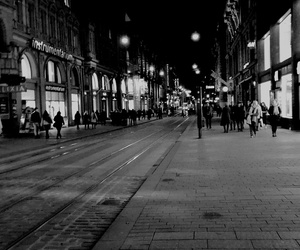 beautiful, black and white, and city image