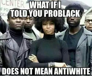 black, discrimination, and white image