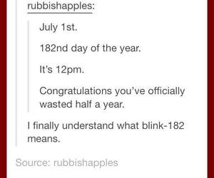 bands, blink 182, and funny image