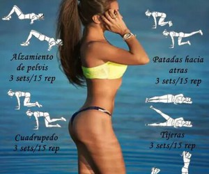 fitness, bikini, and fit image
