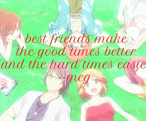 anime, easel, and friendship image