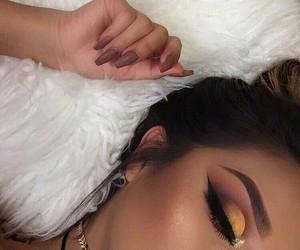 makeup, goals, and nails image