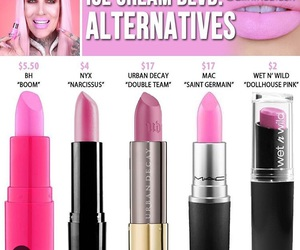 cosmetics, dupe, and jeffree star image