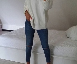 clothes, simple, and jean image