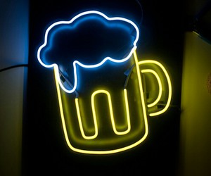 beer, cool, and neon lights image
