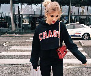 bun, casual, and fashion image