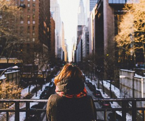 girl, winter, and new york image