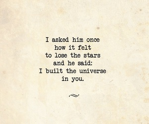 poetry, quote, and universe image