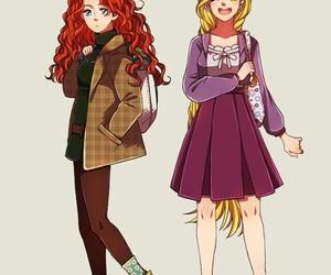 disney, merida, and rapunzel image