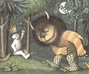 where the wild things are, monster, and book image