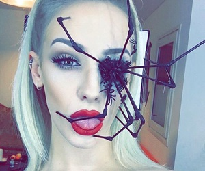 Halloween, spider, and girl image