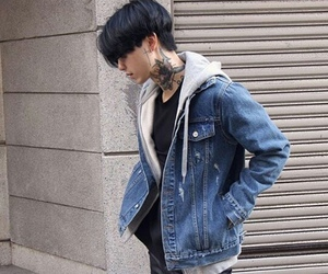 boy, korean, and tattoo image