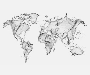 black and white, travel, and map image