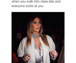 funny, kim kardashian, and school image
