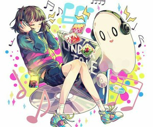 undertale, music, and frisk image