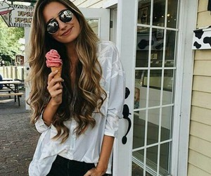 fashion, hair, and ice cream image