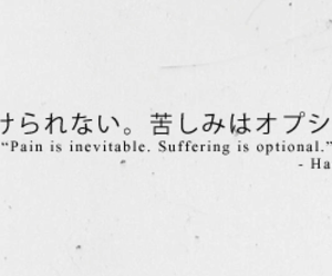 quotes, japanese, and pain image