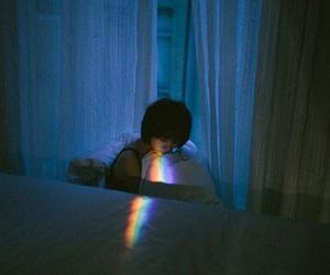 rainbow, grunge, and night image