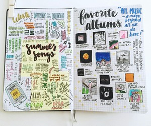 journal, bullet journal, and pen image