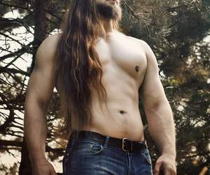 Hot and long haired guy image