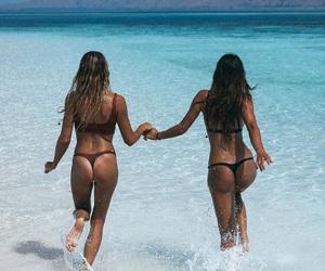 beach, summer, and tan image