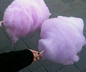 cotton candy, pink, and purple image